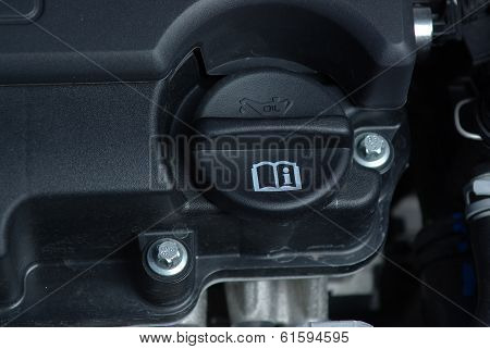 Oil cap in car