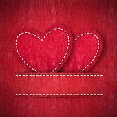 Heart from jean Valentines day card background poster