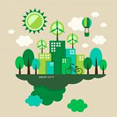 flat design vector illustration concept of ecology poster