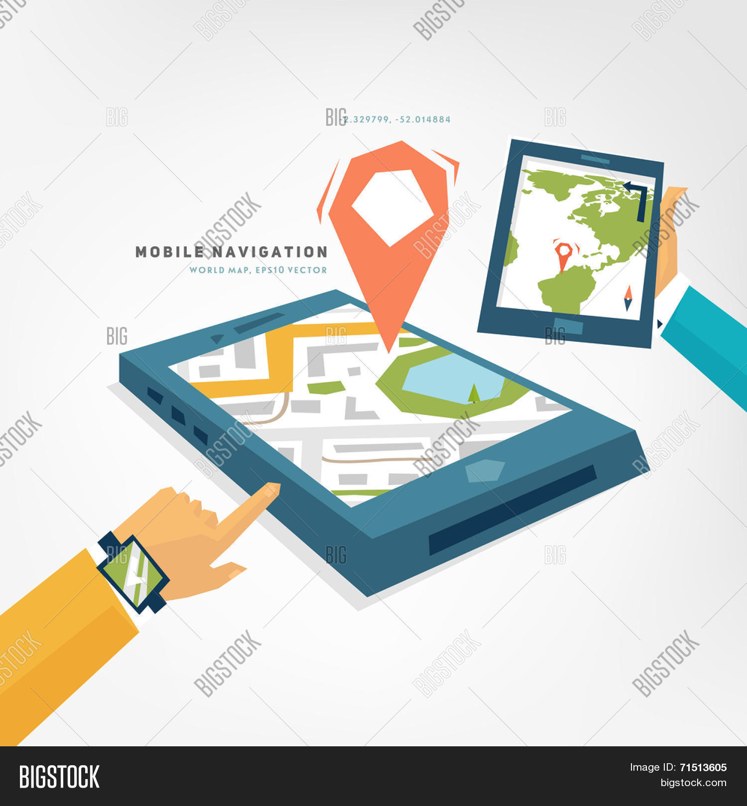 Vector y foto world map mobile prueba gratis bigstock world map mobile phone with gps navigation app tablet pc mobile technologies concept gumiabroncs Gallery