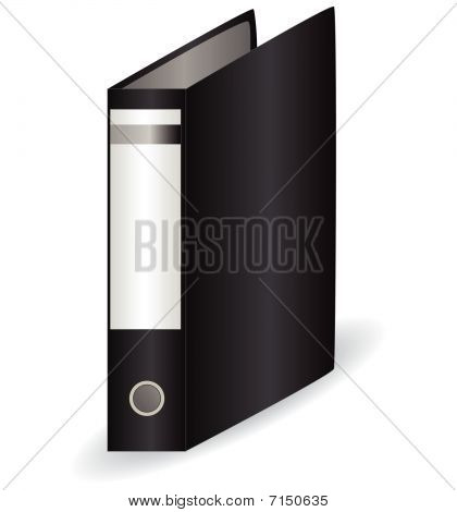 Black office folder for papers