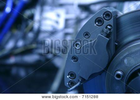 Scheibenbremsen Makro Detail mit Motor
