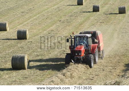 Haymaking in Central Scotland