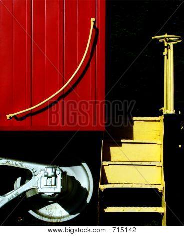 Train caboose art