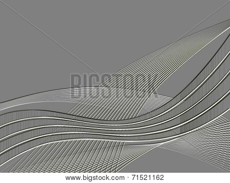 Metal Relief Ribbon Wave Background