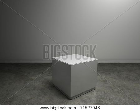 Empty Plinth In Gallery Or Museum