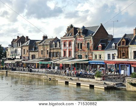 Restaurants On Quai Belu In Amiens City