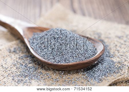 Wooden Spoon With Poppyseed