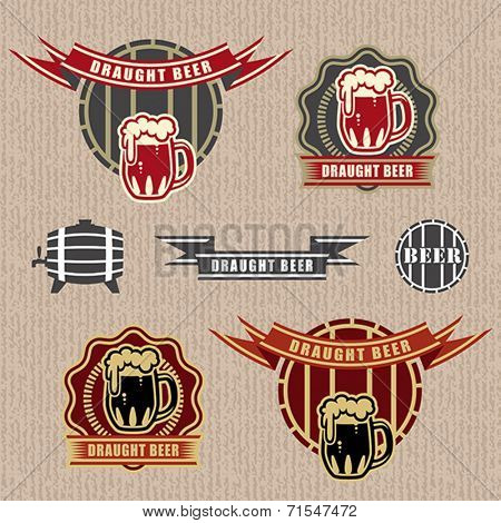 Draught beer labels