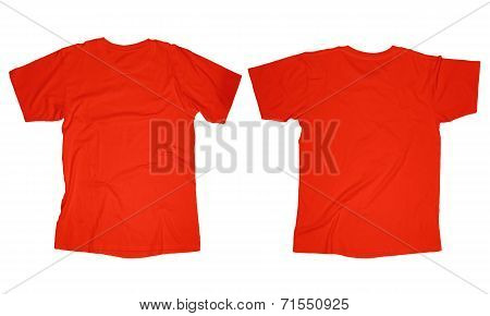Red T-Shirt Template