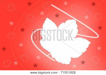 Ilustrated background with maple leaf