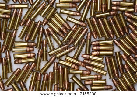 .22 caliber ammunition	rounds scattered
