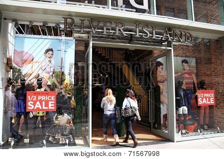 River Island clothing store