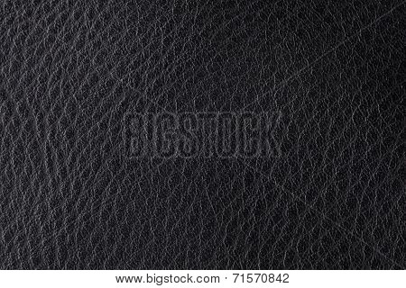 Background With Texture Of Black Leather
