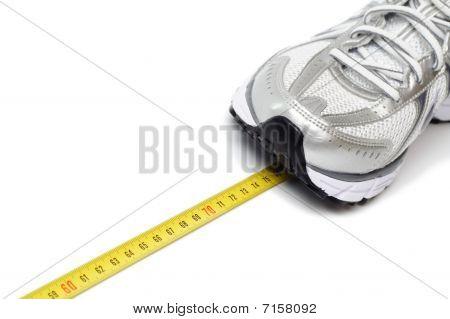 Running Shoe And Centimeter