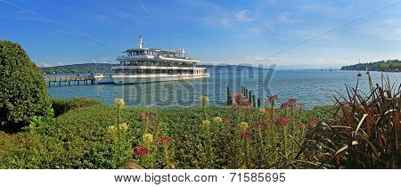 Passenger Liner At Starnberg, Lake Starnberger See, Bavaria