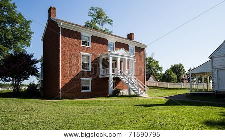 Rear View Of Mclean House At Appomattox
