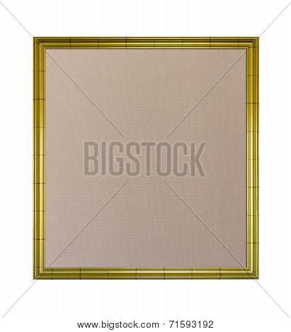 Cloth Pinboard In Ornate Golden Frame