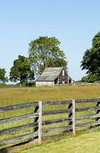 Meeks Stable at Appomattox is traditional wooden farm building in use at the end of the Civil War poster