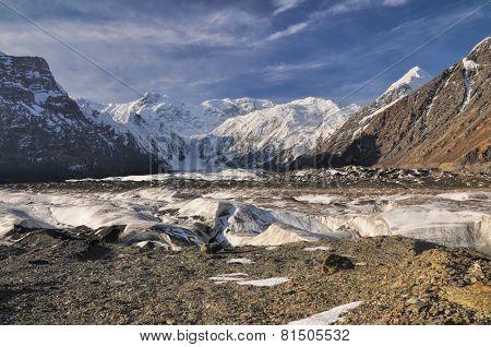 Engilchek Glacier In Kyrgyzstan