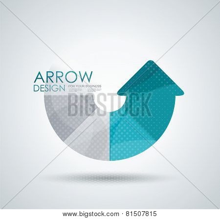 Vector Circle Arrow For Infographic, Diagram, Graph, Presentation And Chart.