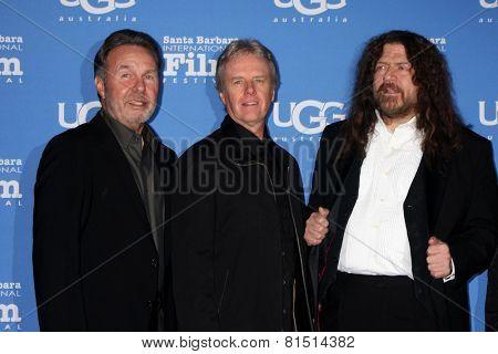 SANTA BARBARA - JAN 30:  Kansas - (l-r) Budd Carr, Phil Ehart, Robby Steinhandt at the SBIFF - Montecito Award at a Arlington Theater on January 30, 2015 in Santa Barbara, CA