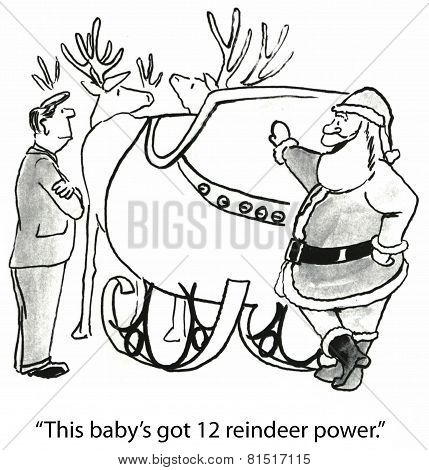 Christmas and Santa's Sleigh Power