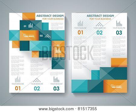 Vector Brochure Template Design With 3D Elements.