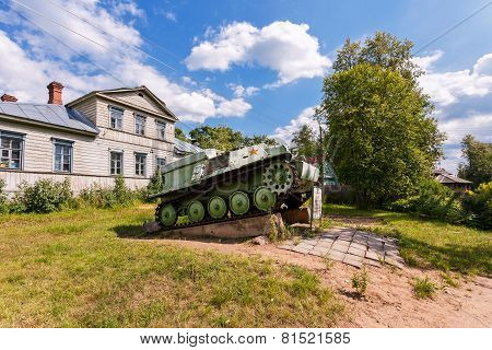 Soviet Light Semi Armored Tracked Artillery Tractor At-p  As Monument