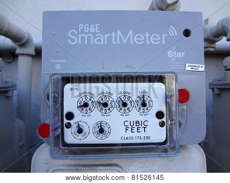 Pg&e (utility Co) Electricity Smartmeters On Residential Building