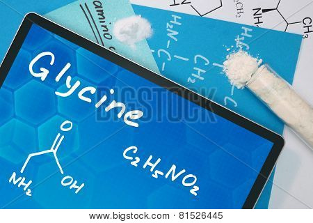 Tablet with the chemical formula of Glycine