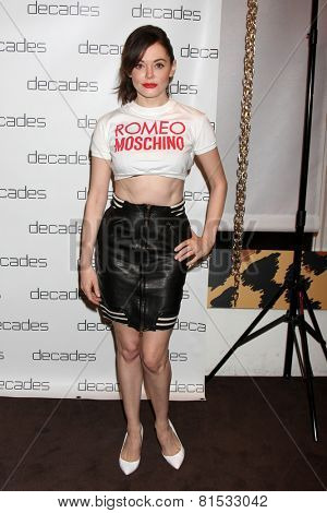 LOS ANGELES - MAR 20:  Rose McGowan at the Decades: Les Must De Moschino Event at Decades Boutique on March 20, 2014 in Los Angeles, CA