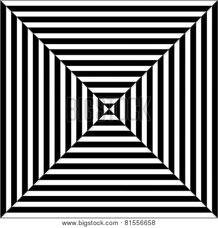 Op Art Illustration Of Black And White Squares