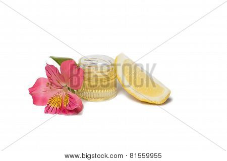 Honey and lemon isolated