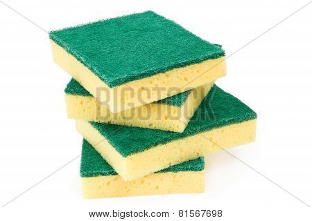 Four Scouring Sponges
