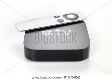Third generation Apple TV and remote control