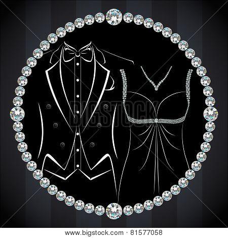 Stylish Invitation Or Wedding Card