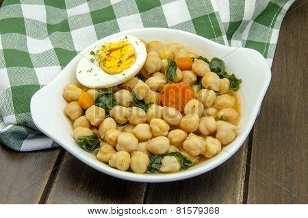 Chickpea Stew With Spinach