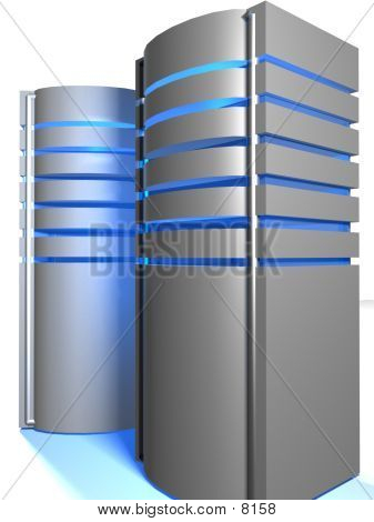 Two 3D Servers Grey