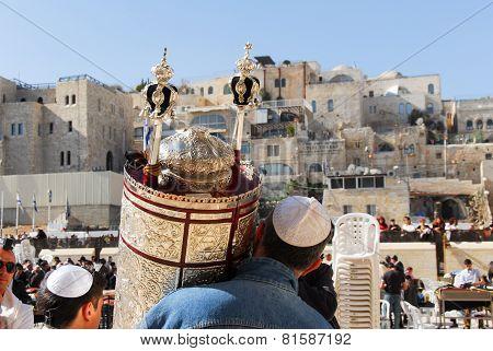 Bar Mitzvah At Western Wall, Jerusalem
