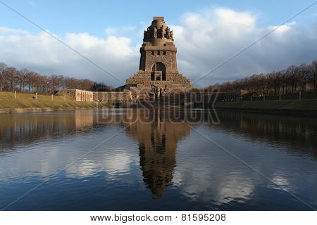 Monument to the Battle of the Nations (1813) designed by German architect Bruno Schmitz (1913) in Leipzig, Saxony, Germany.