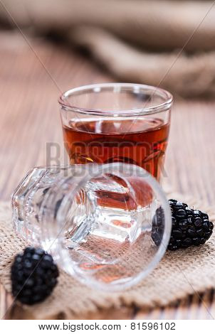 Blackberry Liqueur In A Shot Glass