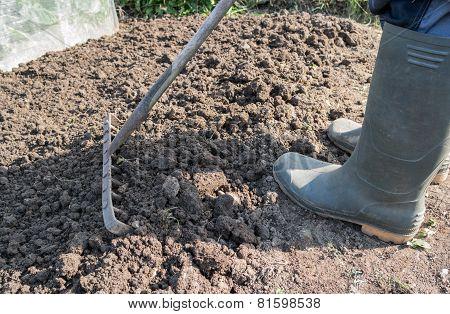 Raking Soil