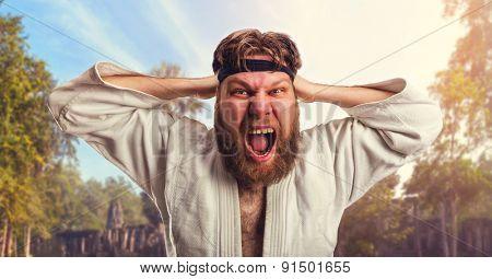 Aggressive karateka