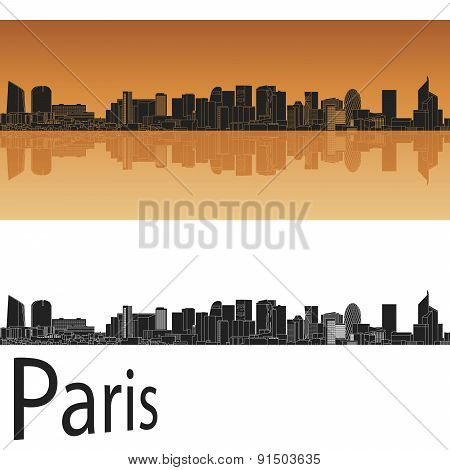Paris V2 skyline in orange background