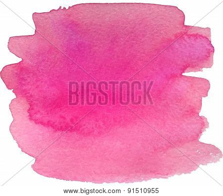 Abstract watercolor hand paint pink texture
