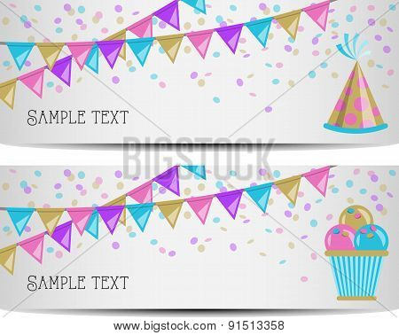 party banner vector illustration