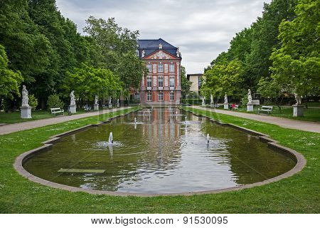 Electorate Palace With Garden And Pond, Trier In Germany