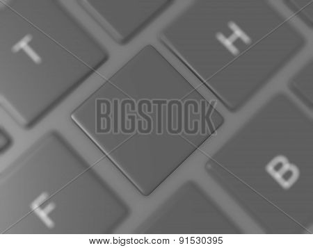 Blank Keyboard Key
