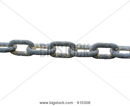 Grungy Metal Chain With Paint